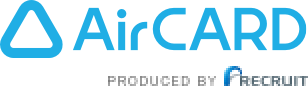 AirCard PRODUCED BY RECRUIT ロゴ